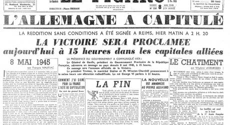 A very old copy of Le Figaro newspaper